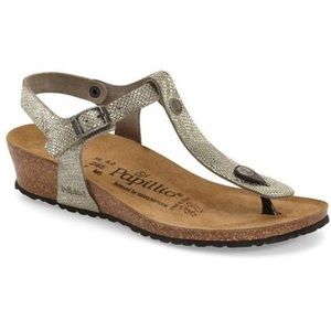 {Birkenstock} Ashley T-Strap Wedge Sandal Size 40